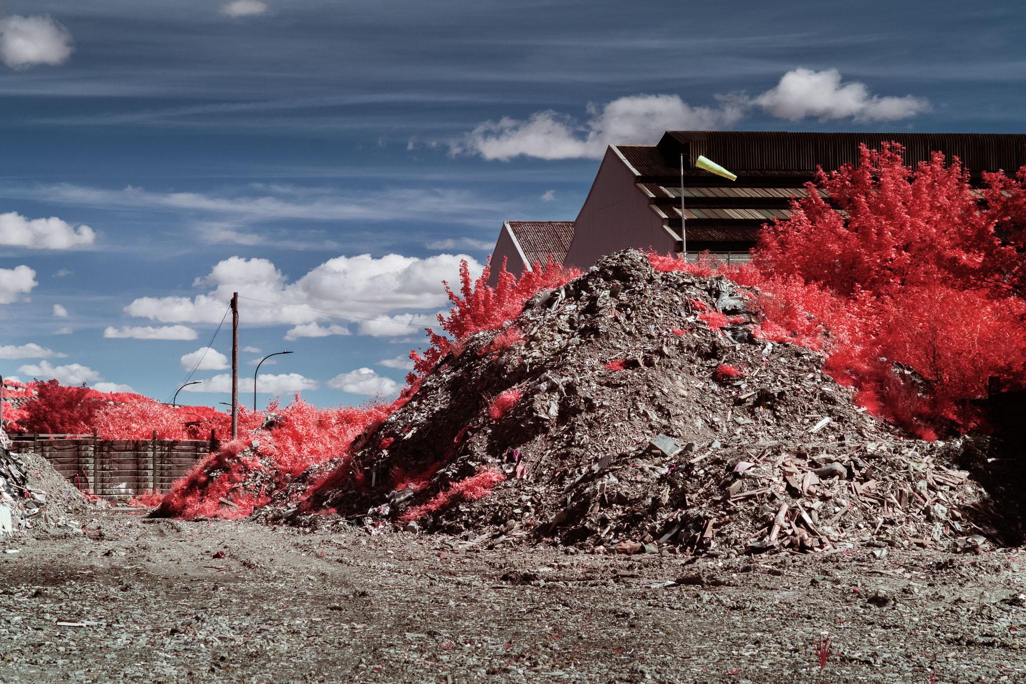 Kodak EIR Colour Infrared, Edgelands, Wasteland, Out of sight,  Dirt Mount ©Jonny Sutton