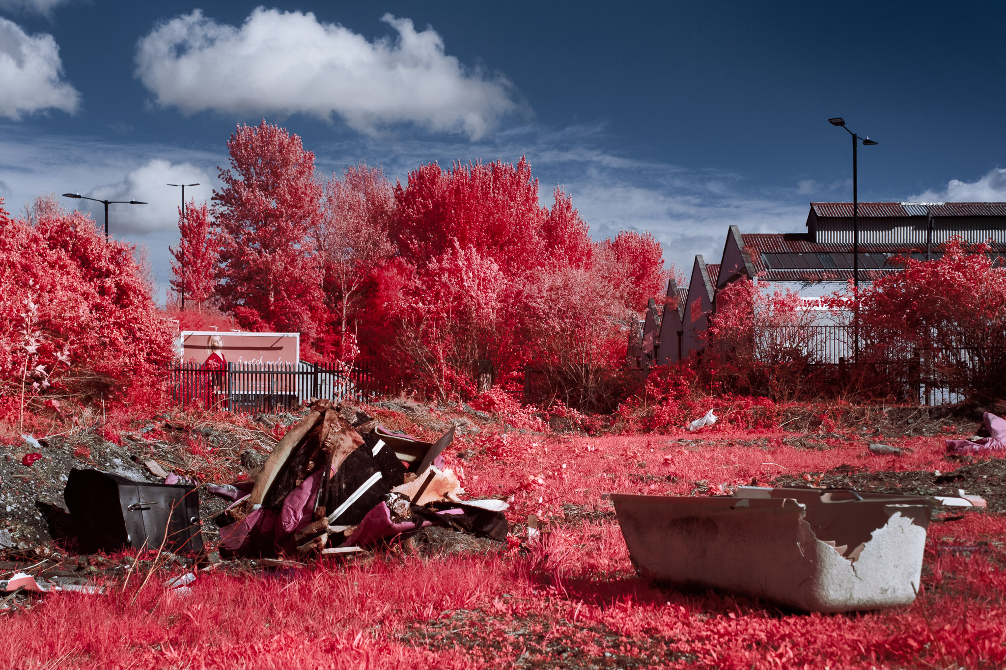 Kodak EIR Colour Infrared, Edgelands, Wasteland, Out of sight,  Bathtub ©Jonny Sutton